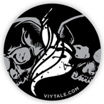 Viytale stickers - past sticker, Viytale URL